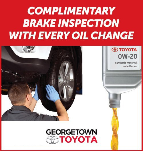 Complimentary Brake Inspection with Every Oil Change