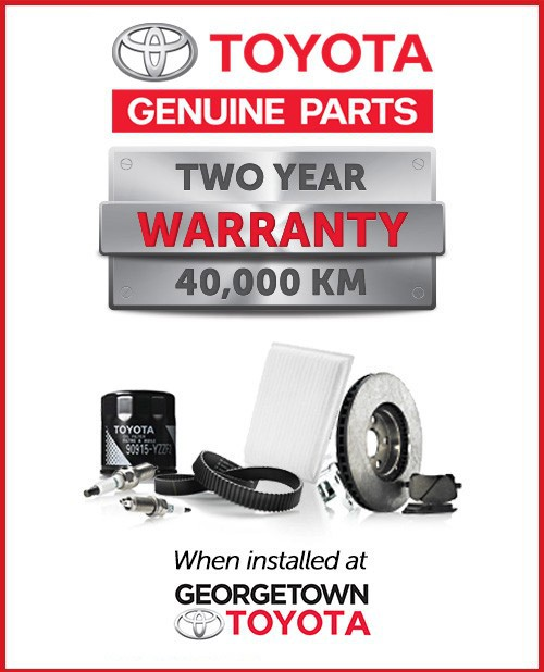 Toyota Genuine Parts Tow Year Warranty 40,000 km