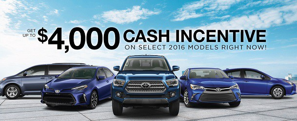 Toyota Cash Incentives