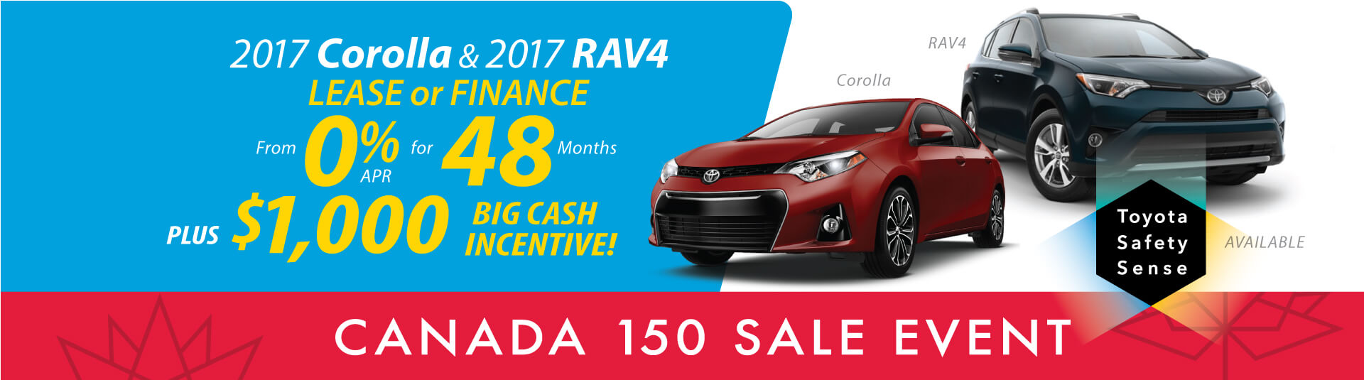 Corolla and RAV4 Offers