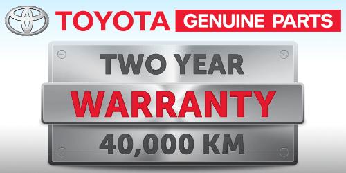 Toyota Genuine Parts Two Year/ 40,000 km Warranty