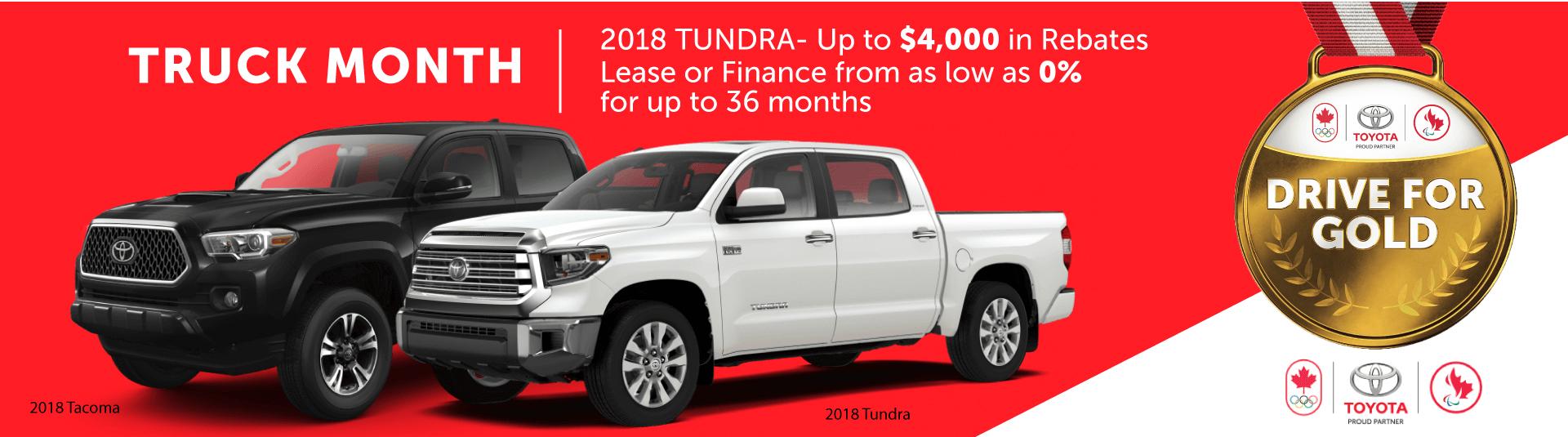 2018 Toyota Tundra Sales