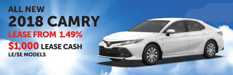All New 2018 Camry Lease Offer