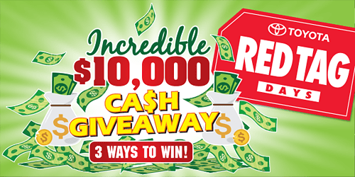 $10,000 Cash Giveaway Contest