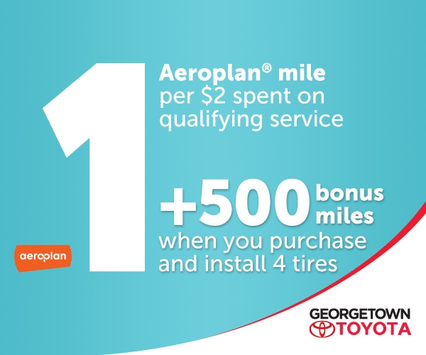 Get Aeroplan Mile for Toyota service