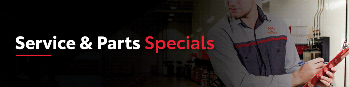 Service and Parts Specials at Georgetown Toyota
