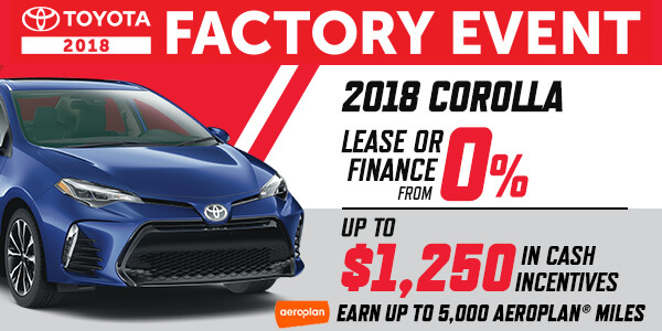 Toyota Factory Event Offer