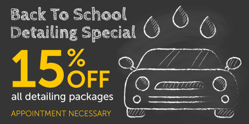 Back To School Detailing Special