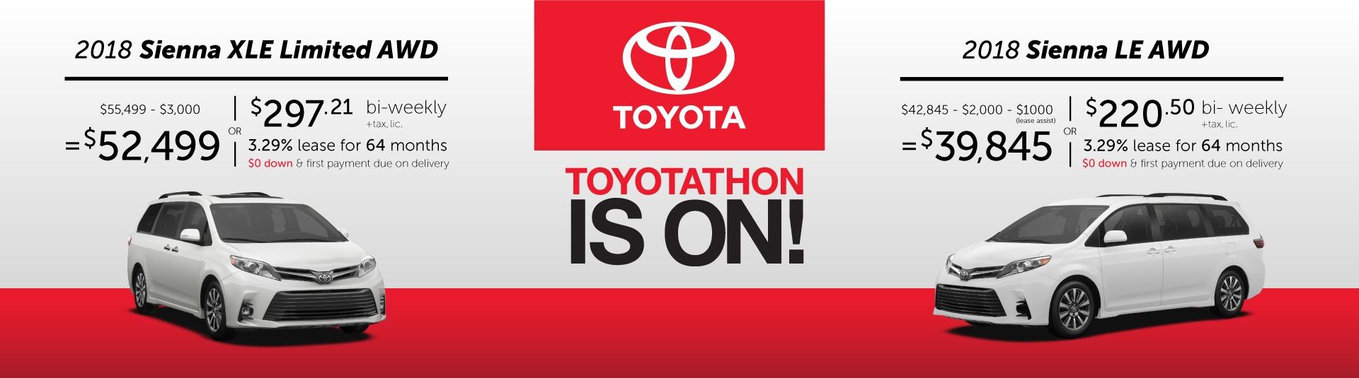 2018 Toyota Sienna Offers in Georgetown