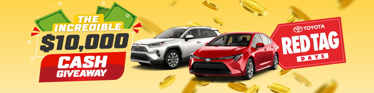 10,000 Cash Giveaway at Georgetown Toyota