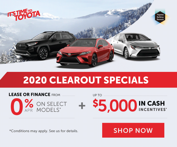 2020 Clearout Specials at Georgetown Toyota
