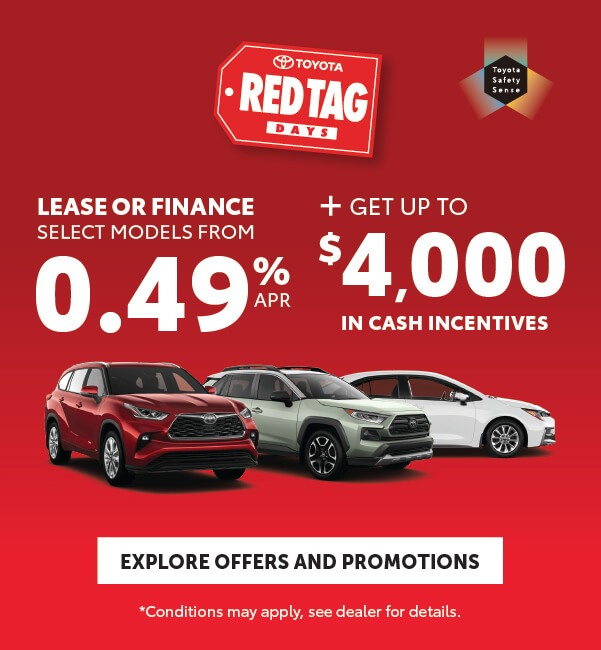 Red Tag Days Georgetown Toyota