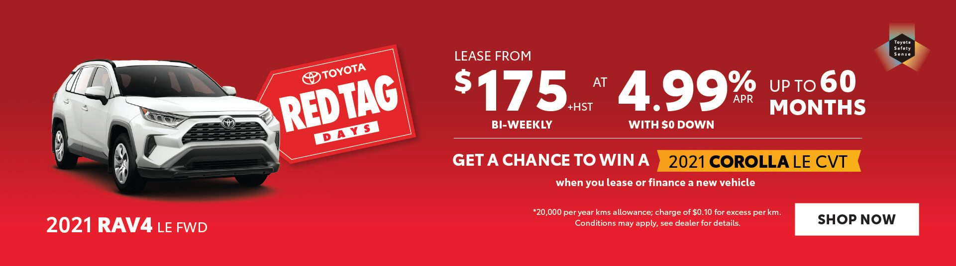 Red Tag Days RAV4 offer Georgetown Toyota