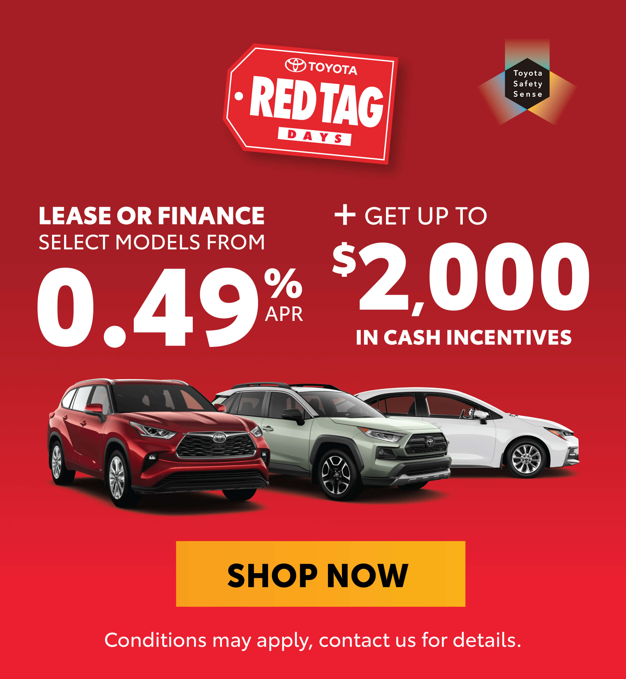 Red Tag Days Promotions Georgetown Toyota
