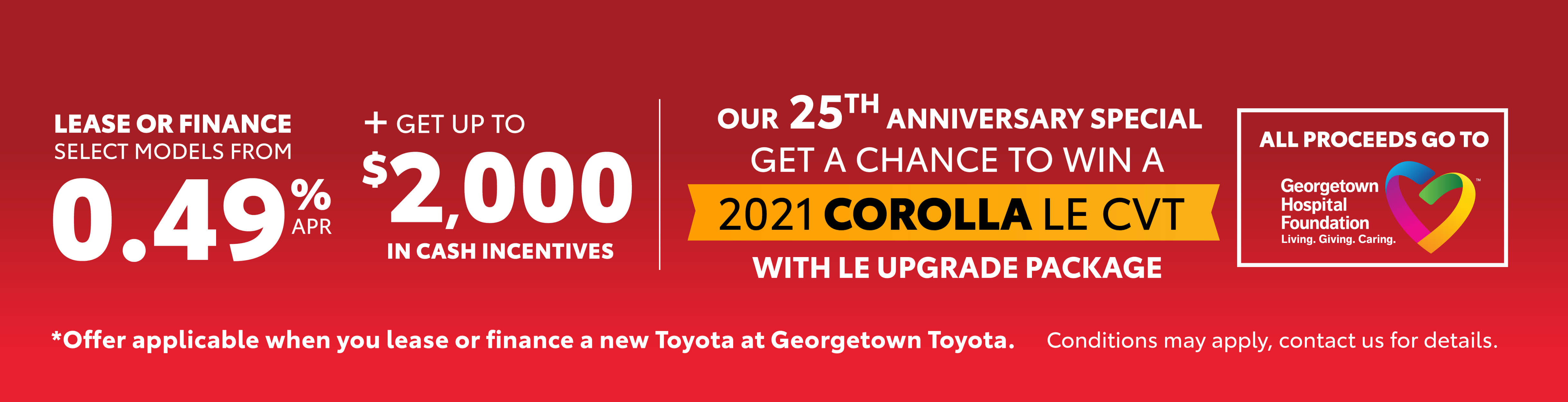 Red Tag Days Offers at Georgetown Toyota