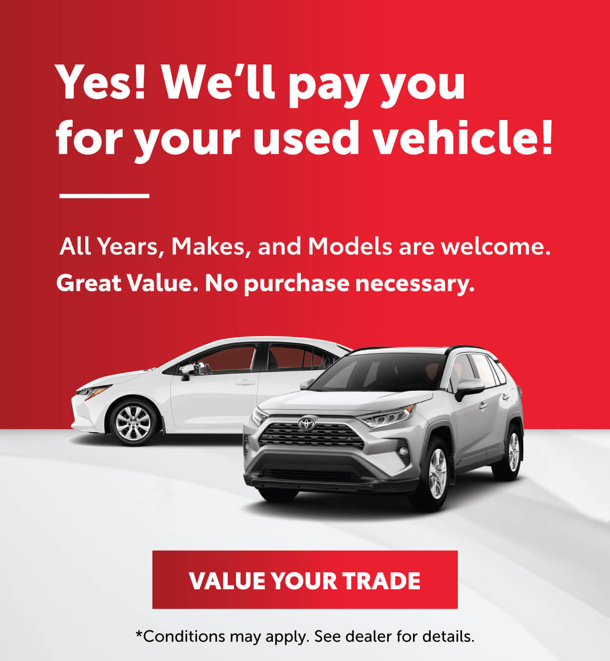 Toyota Trade In offer at Georgetown Toyota