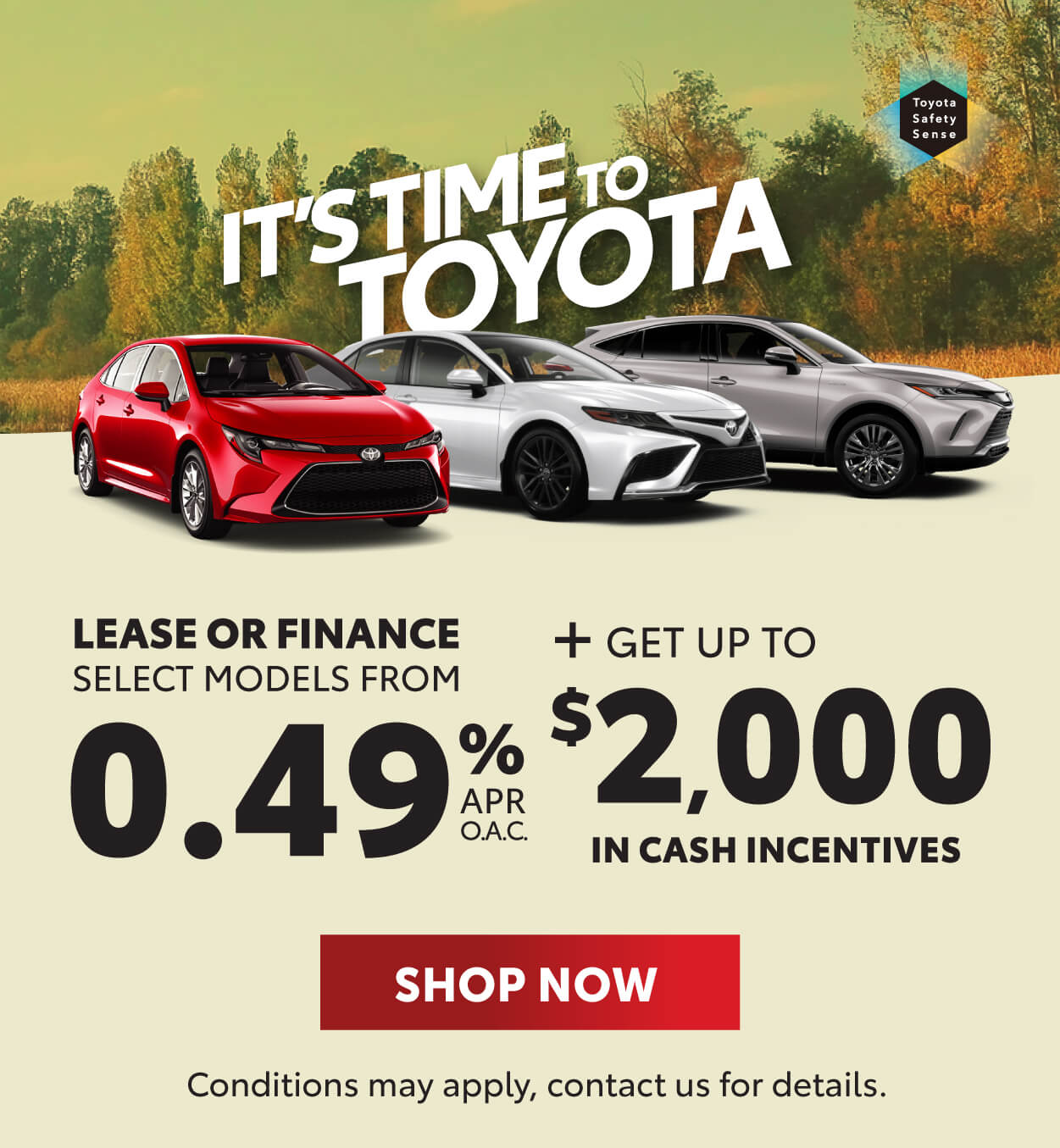 Toyota Promotions - Its Time To Toyota Georgetown Toyota